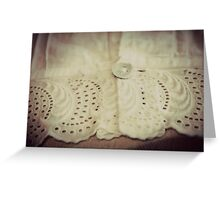 Lace - Embroidery - JUSTART © Greeting Card