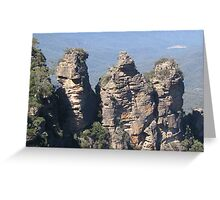 Three Sisters Blue Mountains  Greeting Card