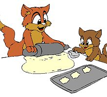 Cats Making Cookies by kwg2200