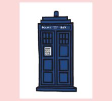 Comic-styled TARDIS Kids Clothes