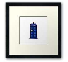 Comic-styled TARDIS Framed Print