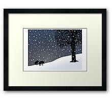 Wolves in the Snow Framed Print