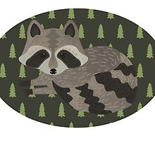 Raccoon Forest by katinatree