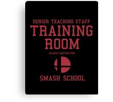 Smash School Training Room (Red) Canvas Print