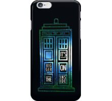 TARDIS - 'It's bigger on the inside' quote iPhone Case/Skin