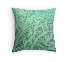 Ice Green Throw Pillow