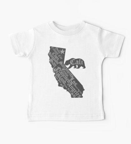 California State Bear (vintage distressed look) Baby Tee