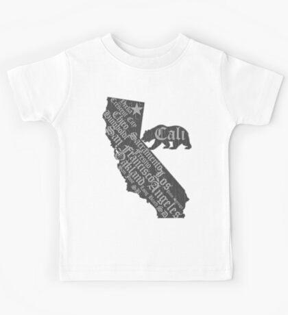 California State Bear (vintage distressed look) Kids Tee