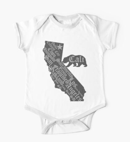 California State Bear (vintage distressed look) One Piece - Short Sleeve