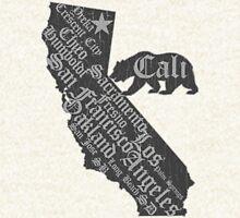California State Bear (vintage distressed look) Hoodie