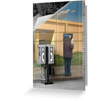 Grey Phone Booth Greeting Card