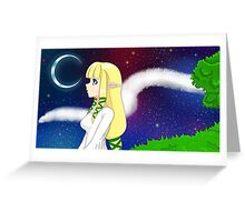 Skyward Sword Maiden Zelda Greeting Card