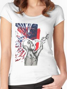 """Devils"" Pen and Lino Cut  Women's Fitted Scoop T-Shirt"