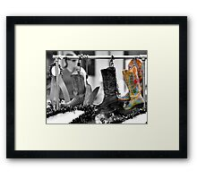 Cowgirl Couture II Framed Print