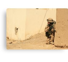 patrol in sangin Canvas Print