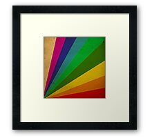 Color Rays Framed Print