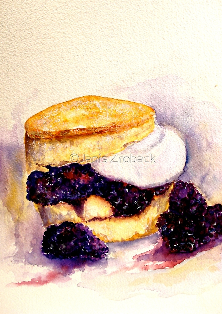 Delicious ..Scone with Berries and Cream by ©Janis Zroback