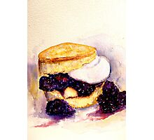Delicious ..Scone with Berries and Cream Photographic Print