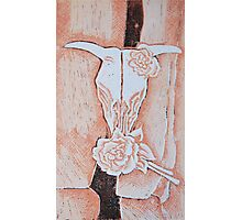 after Georgia O'Keeffe's Cow's Skull with Calico Roses  Photographic Print