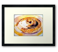 Delicious ..Plum Blossom with Caramelized Apples and Calvados Cream Framed Print