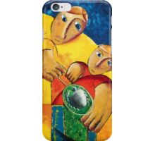 Boys with Crab in fishing net iPhone Case/Skin