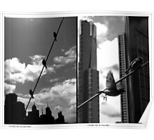 Birds on a Wire Dptych Poster