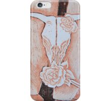 after Georgia O'Keeffe's Cow's Skull with Calico Roses  iPhone Case/Skin
