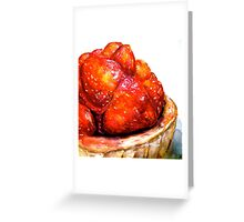 Delicious ..Strawberry Tart Greeting Card