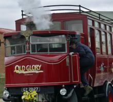 Elizabeth, Steam Bus at Whitby Sticker
