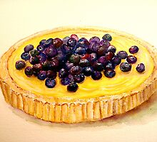 Delicious ..Lemon Curd and Blueberry Tart by ©Janis Zroback