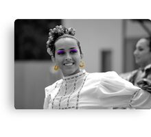 Dancer With The Ballet Folklorico Alegria Canvas Print