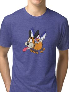 Duck Hunt The Cowardly Duo Tri-blend T-Shirt