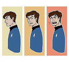the many faces of leonard mccoy Photographic Print