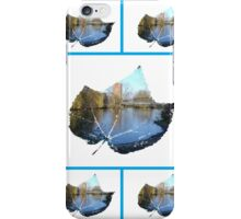 River Leaf Abstract Collage iPhone Case/Skin