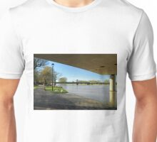 The River In Flood, Stapenhill Gardens Unisex T-Shirt
