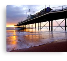 Watercolour Paignton Canvas Print