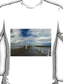 Along The West Pier, Whitby T-Shirt