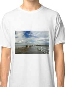 Along The West Pier, Whitby Classic T-Shirt