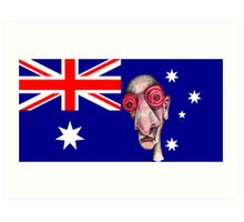 Insomniac Goes to Australia Art Print