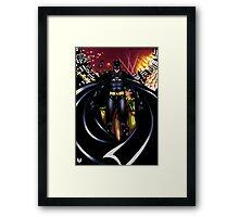 Chaos in Gotham Framed Print