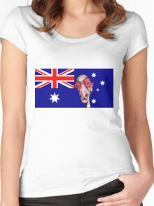 Insomniac Goes to Australia Women's Fitted Scoop T-Shirt