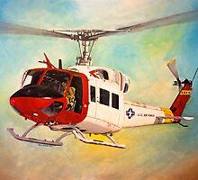 Huey UH-1N  by Eric Houghland