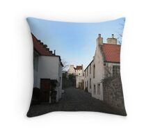 Small Street in Culross Throw Pillow