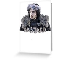 Snow Bastard Flower Crown Greeting Card