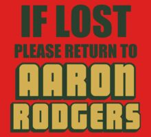 IF LOST PLEASE RETURN TO AARON RODGERS Kids Clothes