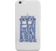 TARDIS Quote: The 11th Doctor iPhone Case/Skin