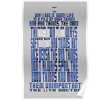 TARDIS Quote: The 11th Doctor Poster