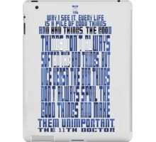 TARDIS Quote: The 11th Doctor iPad Case/Skin