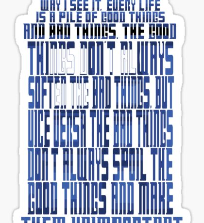 TARDIS Quote: The 11th Doctor Sticker