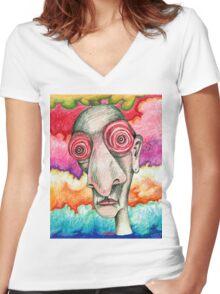 Grateful Insomniac Women's Fitted V-Neck T-Shirt